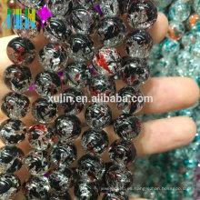 venta al por mayor 8 mm chorro de cristal floral crujiente perlas joyas granos que hace la máquina