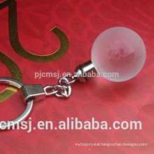 Crystal glass ball Keychain for decration or gifts souvenirs