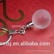 Chaveiro bola de vidro de cristal para decration ou lembranças presentes