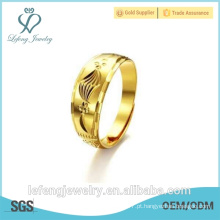 Hot venda de alta polido antigo estilo ouro banhado anéis de noivado
