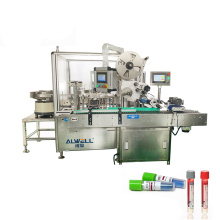 Popular automatic 10ml glass test tube filling capping and labeling machine