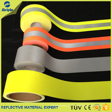Cinta reflectante ignífuga 100% algodón fluorescente amarilla para ropa de seguridad