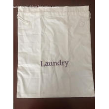 Cotton two-side pulling-styled hotel laundry bag