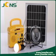 Energia elétrica solar com 2 luzes com rádio