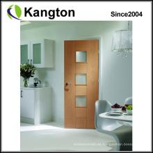 Puerta de madera maciza de chapa de madera (puerta de madera maciza)