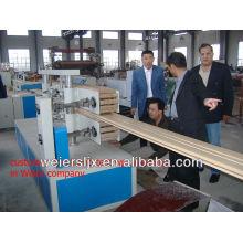 wood plastic composite wpc flooring machine