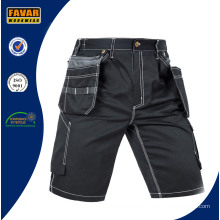 Pantalones cortos de trabajo de verano para hombres Workwear bolsillos múltiples Pantalones cortos de cargo negro