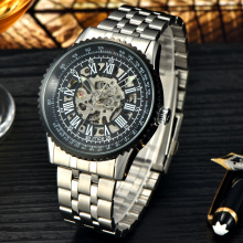 latest model skeleton automatic mechanical men's watch