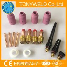 Kits de peças de soldagem tig de 17 peças para solda wp18 / wp17 tig