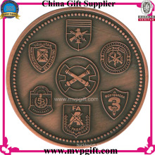 Monnaie en métal avec 2 logos latéraux Gravure