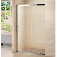 Puerta de cristal de la ducha del acero inoxidable del diseño europeo (LTS-026)