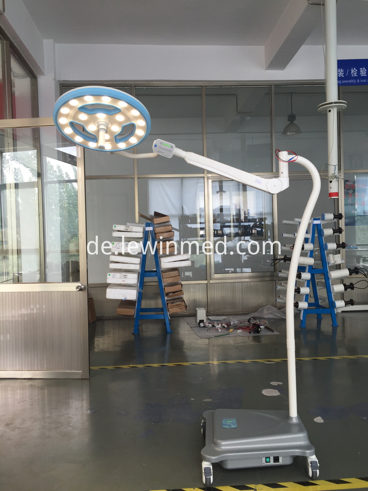 Floor type hollow lamp