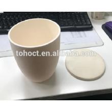 Высокой чистоты conial форма керамическая глинозема Тигли с крышкой