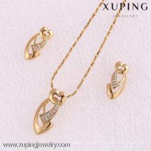 61960-Xuping Fashion Woman Jeu de bijoux avec plaqué or 18 carats
