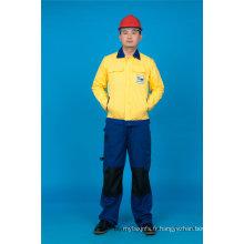 65% Polyester 35% Coton Haute Qualité À Manches Longues Sécurité Pas Cher Vêtements de Travail Costume (BLY2008)
