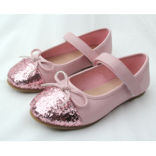 new model children kids girl bowknot school dress simple shoes