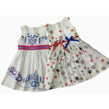 Summer Girl Fashion Dress with Printing in Children Clothes (SQD-133-137)