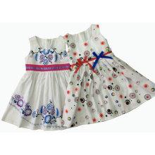 Vestido de verão menina moda com impressão em roupas de crianças (sqd-133-137)