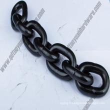 Chaîne de levage de la haute résistance G80 / chaîne de grue / chaîne noire