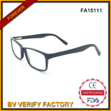 Quadratische Acetat Brille Unisex schwarze Brillen (FA15111)