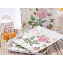 (BC-TM1023) Hot-Sell High Quality Reusable Melamine Serving Tray