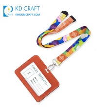 Wholesale custom logo silk screen print neck strap sublimation printing id card holder polyester lanyard for sale
