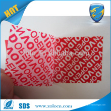 Kundenspezifischer Kleber-Sicherheits-Aufkleber-Aufkleber-Kabel-Aufkleber-Aufkleber