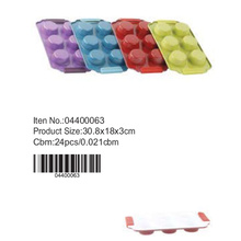 Colorful 6 cups muffin cake pan with silicone handle