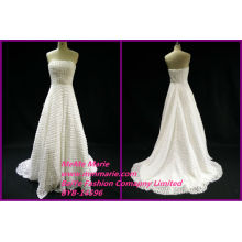 Latest Real Pictures Wedding Gowns Designs Backless Strapless Bridal Gowns BYB-14596