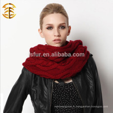 Echarpe à l'infini de haute qualité en tricot féminin