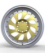 Gold face 4 to 4 CB 9 spokes alloy wheels