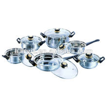 12pcs Steel Sauce Pans Sets