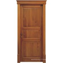Style européen de porte en bois massif (ED015)