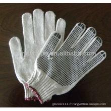 Gants tricotés en PVC