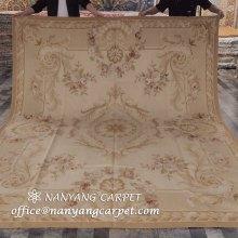 8'x10' Handmade Aubusson Carpet Antique Area Rug