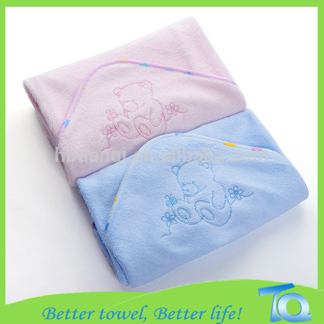 100% Super Soft Velour Bamboo Baby Hooded Towel