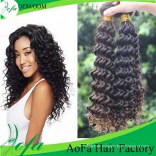 Deep Wave Virgin Malaysian Human Hair Weft for Black Women