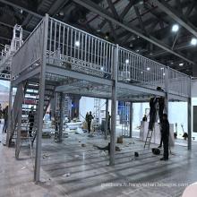 Rayonnage de plate-forme de couche de structure métallique avec l'escalier