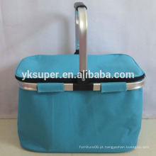Material de poliéster usado dobrando cestas de compras