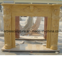 Beige Marble Fireplace Surround (SY-MF024)