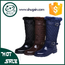 2015 новый дамы мода обувь резиновые дождь загрузки с молнии д-685