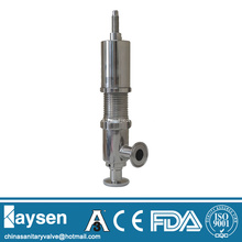 Sanitary safety relief valves with clamped end