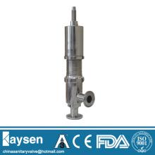 Válvulas de alívio de segurança sanitária com extremidade presa