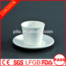 2014 hot sale porcelain tea cup and sauce without hand