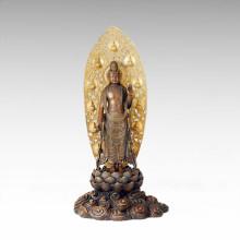 Statue de Bouddha Holy Avalokitesvara Bronze Sculpture Tpfx-073
