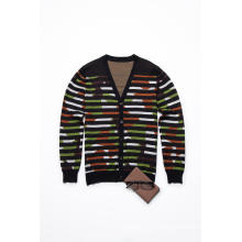 Fall&Winter Long Sleeve V Neck Knitting Men Cardigan