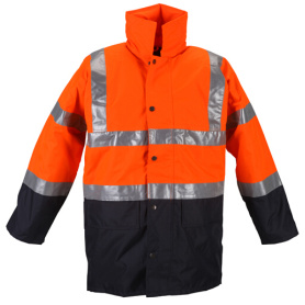 Reflective safety snowmobile jacket