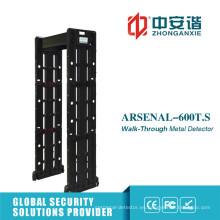 Detector de metales portátil de alta precisión de pantalla táctil con 255 niveles de sensibilidad