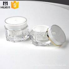 plastic polygon acrylic material fancy cosmetic jars