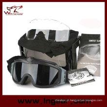 Óculos de airsoft Goggle tático Turbofan com 2 velocidades